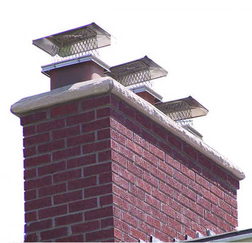 What is the first thing that would need servicing or repair on a brick chimney?