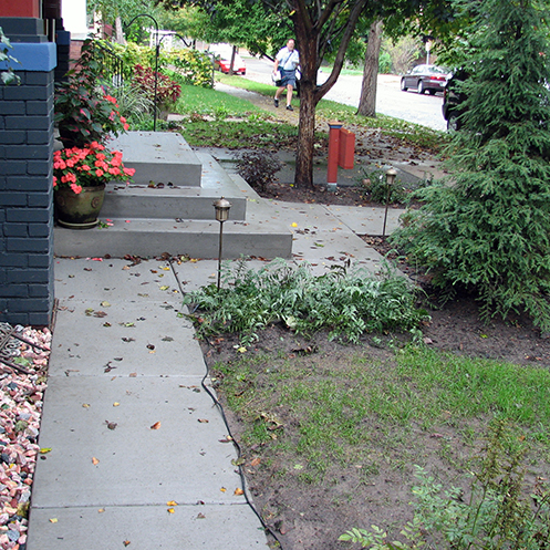 Sidewalk and Steps